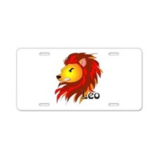 Whimsical Leo Aluminum License Plate