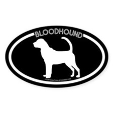 """Bloodhound"" Black Oval Decal"