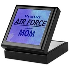 Proud AIR FORCE Mom Keepsake Box