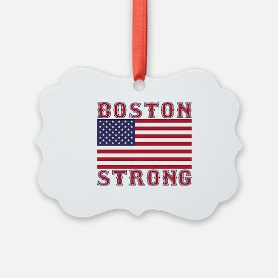 BOSTON STRONG U.S. Flag Ornament