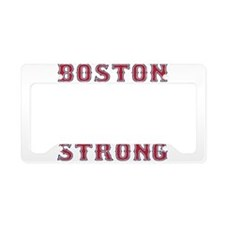 BOSTON STRONG U.S. Flag License Plate Holder