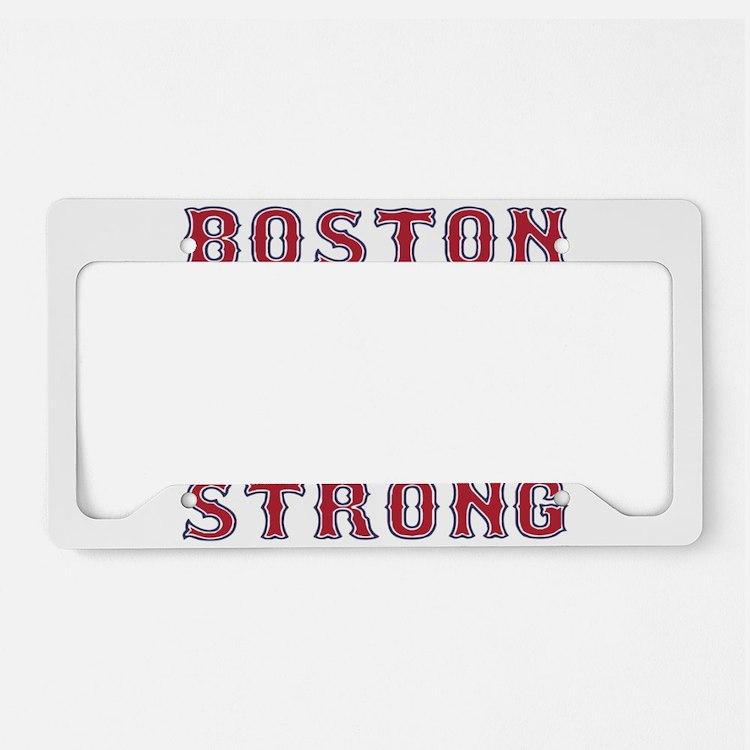 BOSTON STRONG U.S. Flag License Plate Holder