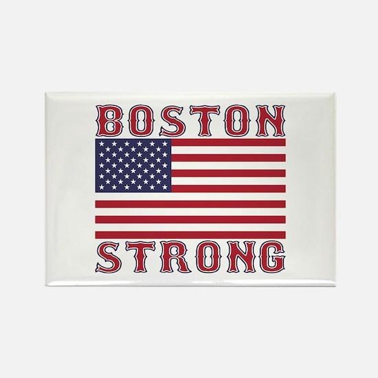 BOSTON STRONG U.S. Flag Rectangle Magnet
