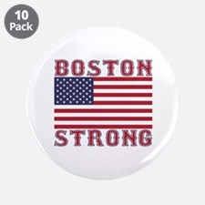 """BOSTON STRONG U.S. Flag 3.5"""" Button (10 pack)"""