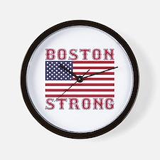 BOSTON STRONG U.S. Flag Wall Clock