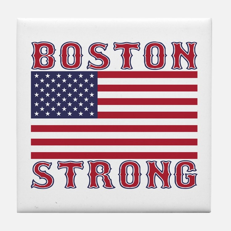 BOSTON STRONG U.S. Flag Tile Coaster