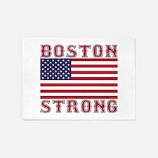 BOSTON STRONG U.S. Flag 5'x7'Area Rug