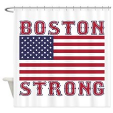 BOSTON STRONG U.S. Flag Shower Curtain