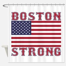 BOSTON STRONG U.S. Flag Shower Curtain