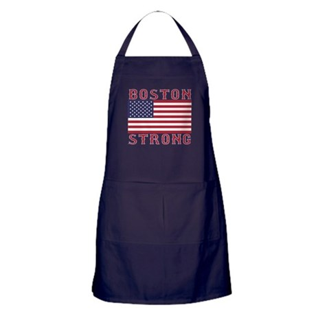 BOSTON STRONG U.S. Flag Apron (dark)