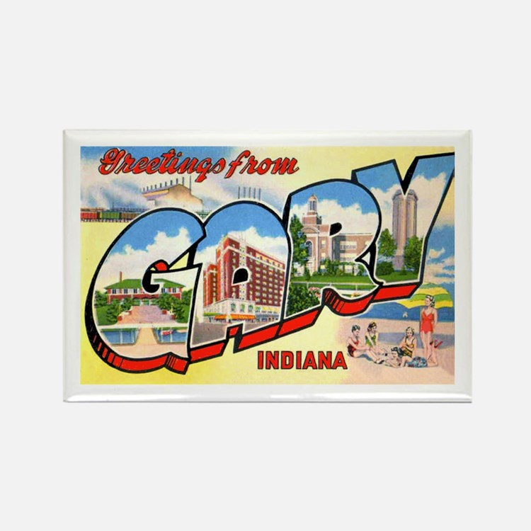 Gary Indiana Greetings Rectangle Magnet (10 pack)