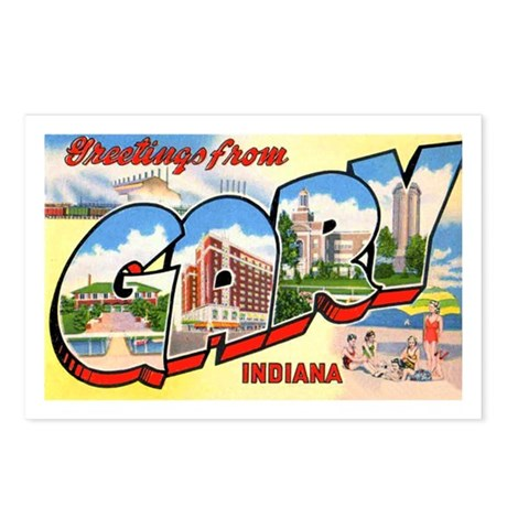 Gary Indiana Greetings Postcards (Package of 8)