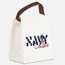 navycousin.jpg Canvas Lunch Bag