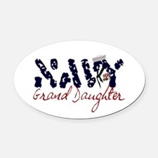 navygranddaughter.jpg Oval Car Magnet