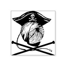 "Yarrrrn Pirate! Square Sticker 3"" x 3"""