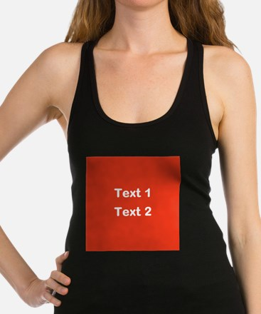 Red with Bold Custom Text. Racerback Tank Top