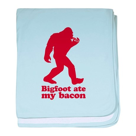 Bigfoot (Sasquatch) ate my bacon! baby blanket