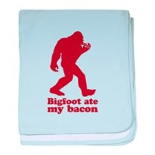 Bigfoot (Sasquatch) ate my bacon! baby blanket