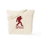 Bigfoot bacon Canvas Bags