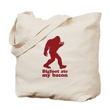 Bigfoot (Sasquatch) ate my bacon! Tote Bag