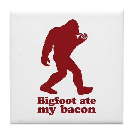 Bigfoot (Sasquatch) ate my bacon! Tile Coaster