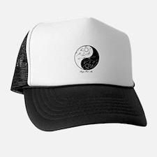 Tribal cats Yin Yang Trucker Hat