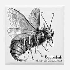 Beelzebub, Ancient Demon God Tile Coaster