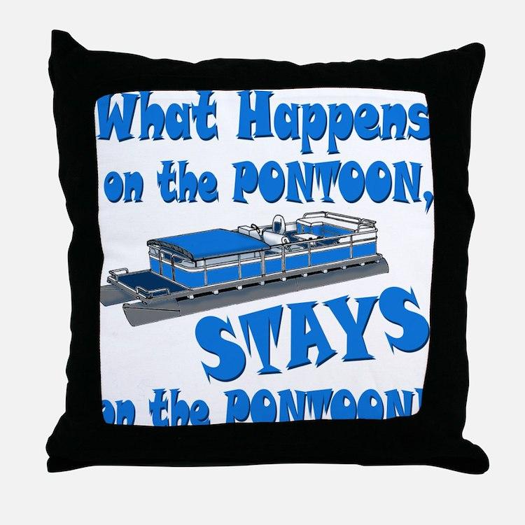 On The Pontoon Throw Pillow