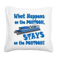 On The Pontoon Square Canvas Pillow