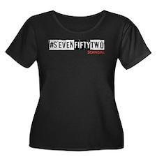 Seven Fifty Two Women's Plus Size Scoop Neck Dark