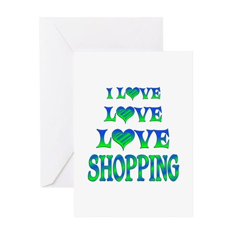 Love Love Shopping Greeting Card