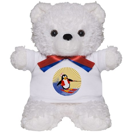 Penguin Water-Skiing Teddy Bear