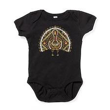 Fall Turkey Dark Baby Bodysuit