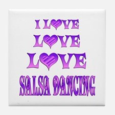Love Love Salsa Tile Coaster