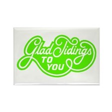Glad Tidings to You Rectangle Magnet