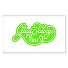 Glad Tidings to You Rectangle Decal