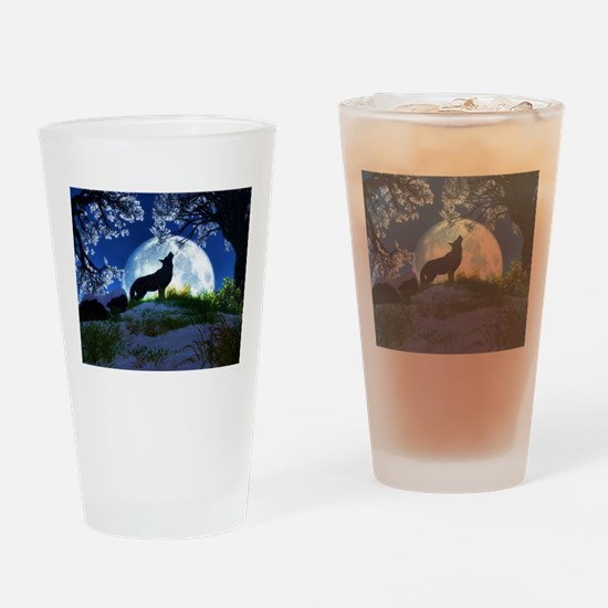Howling Wolf Drinking Glass