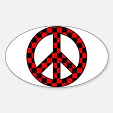 Checkered Peace Sign Decal