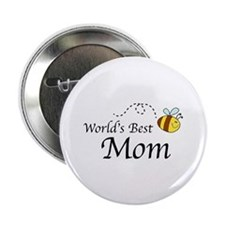 "World's Best Mom 2.25"" Button (100 pack)"