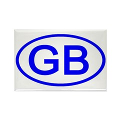 Great Britain - GB Oval Rectangle Magnet (100 pack
