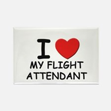 I love flight attendants Rectangle Magnet