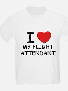 I love flight attendants Kids T-Shirt