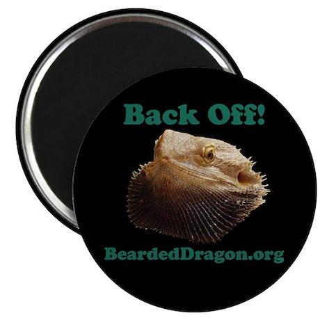 """""""Back Off!"""" Magnet (black)"""