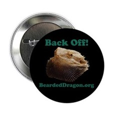 """Back Off!"" Button (black)"