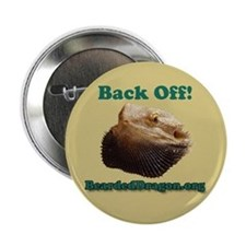 """Back Off!"" Button (tan)"