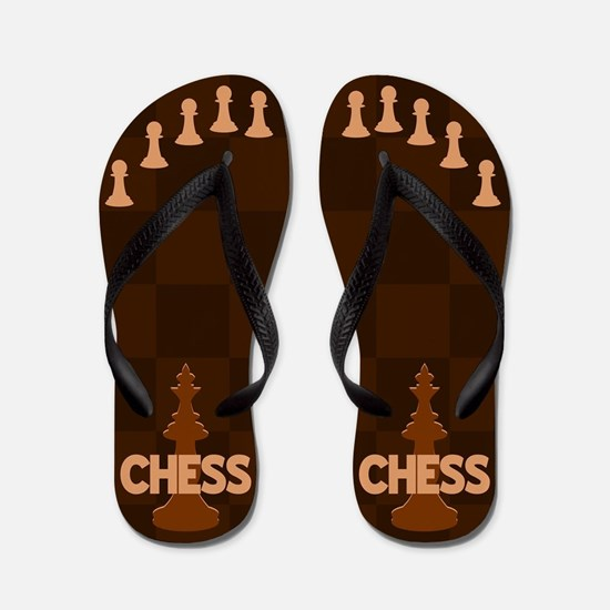Chess King Pawn Toes Flip Flops