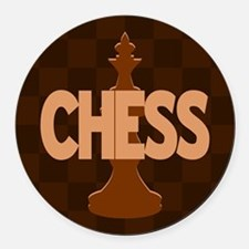 King of Chess Round Car Magnet