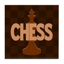 King of Chess Tile Coaster