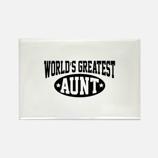 World's Greatest Aunt Rectangle Magnet