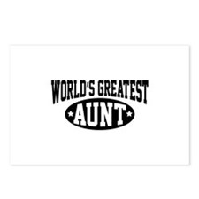 World's Greatest Aunt Postcards (Package of 8)